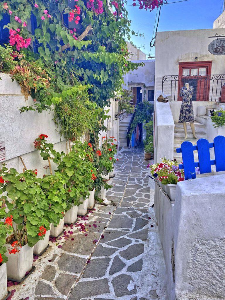 Kleinen griechischen Gassen und Hinterhöfe