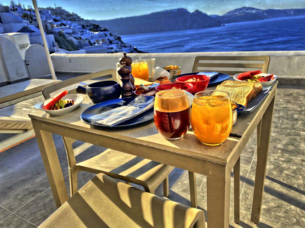 Frühstück mit einem herrlichen Ausblick.