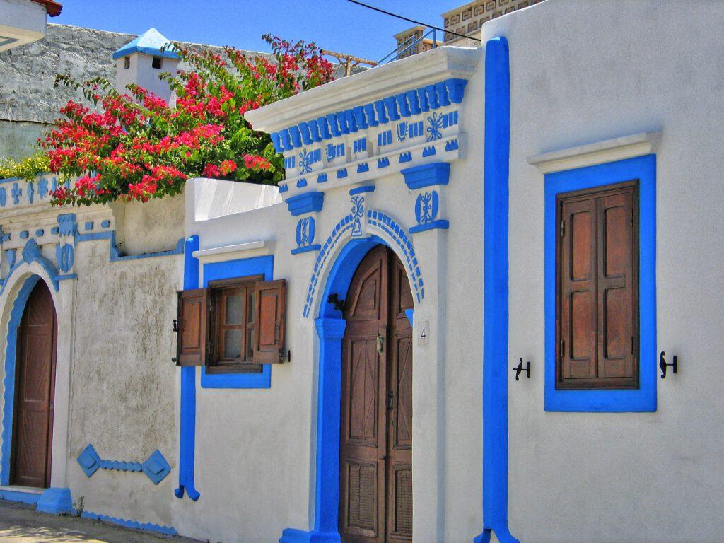 Traditionelle griechische Häuser.
